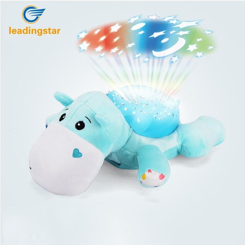 LeadingStar Led Night toy Sky Star Novelty Lamp Plush Toys With Music Moon and Stars Projector Light Baby Toys For Kid Gift