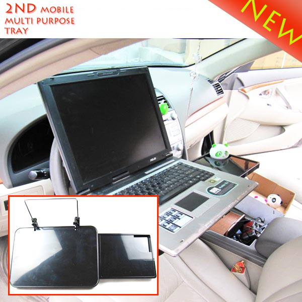 Laptop Car Mount with Mouse Tray laptop stand Driving wheel or Seat ...