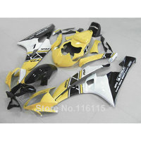 Body kits Fit for YAMAHA YZF R6 2006 2007 white yellow black fairings set YZF-R6 06 07 fairing kit Injection molding HY5
