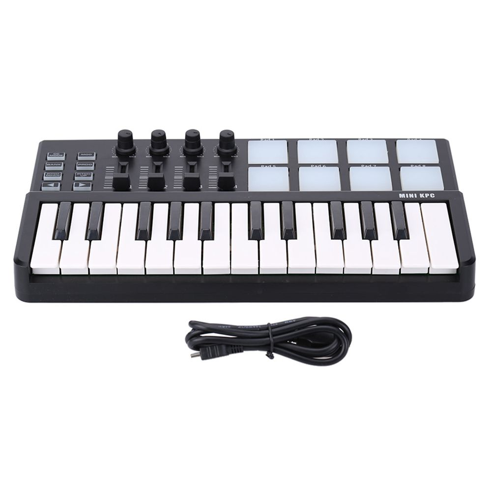 MMFC-WORLDE Panda MIDI Keyboard 25 Keys Mini Piano USB Keyboard and Drum Pad MIDI Controller