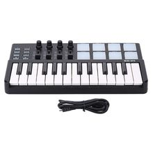 MMFC-WORLDE Panda MIDI Keyboard 25 Keys Mini Piano USB Keyboard and Drum Pad MIDI Controller