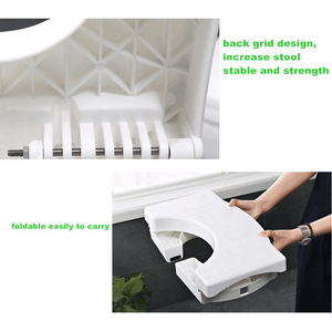 Image 5 - Home Folding Squatting Stool Bathroom Squat Toilet Stool Compact Squatty Potty Stool Portable Step Seat for Home Bathroom Toilet