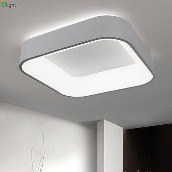 Скандинавский простой акриловый светодиодный потолочный светильник с регулируемой яркостью, квадратный алюминиевый светодиодный потолоч
