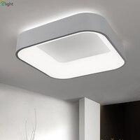 Nordic простой акриловый светодио дный затемненный светодиодный потолочный светильник квадратный алюминиевый спальня светодио дный светоди