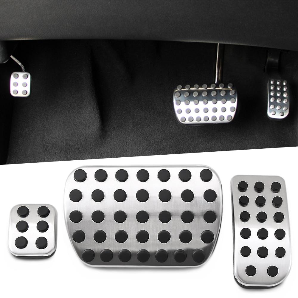 RIMIDI No Drill Car Accessories Gas Brake Pedal Cover Sticker For Mercedes Benz V-Class Vito Metris Viano W447 W639 AT(LHD)