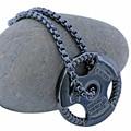 Mancuerna de Acero inoxidable collar de la joyería Pendiente del encanto de fitness gimnasio de fitness accesorios entrenamiento crossfit barbell joyería