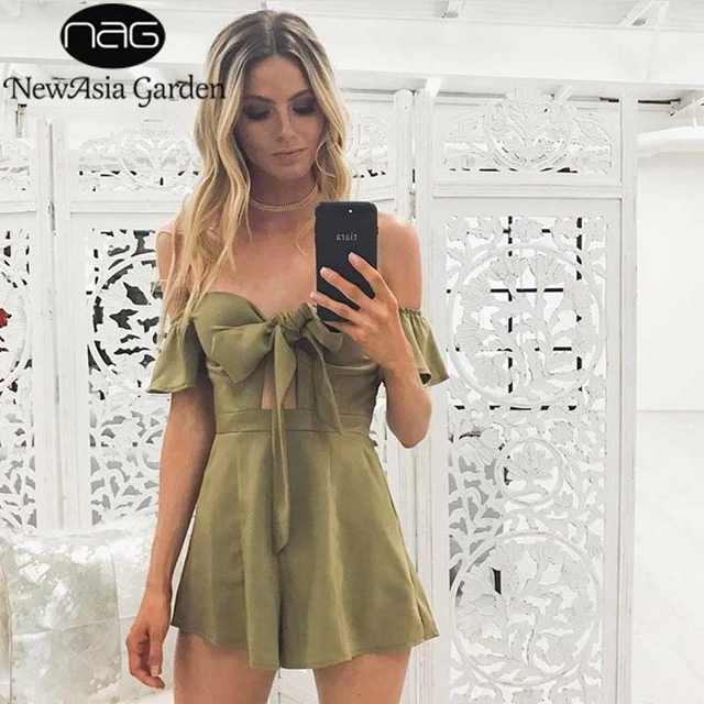 c66ff29a9f NewAsia Garden Sexy Jumpsuit Rompers Womens Jumpsuit Bustier Padded Playsuit  Jumpsuits For Women 2018 body feminino