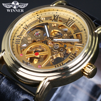 2016 New Fashion Men Male Clock Winner Brand Stylish Design Classic Automatic Self Wind Wrist Dress