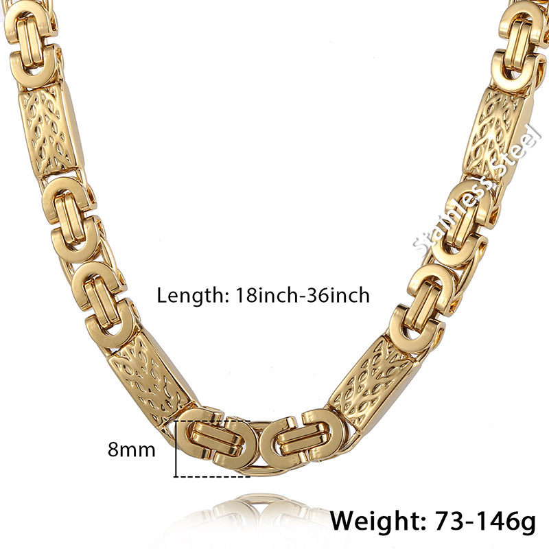 Men's Golden Necklace with Tiny Cross