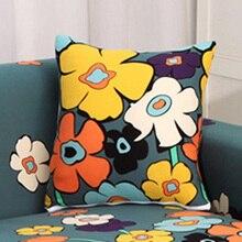 Мягкий Лохматый Ковер для диванных подушек, наволочки для подушек, цветочный узор Чехлы на диванные подушки, подушки Чехол Декоративная Подушка Чехол однотонный размером 45*45