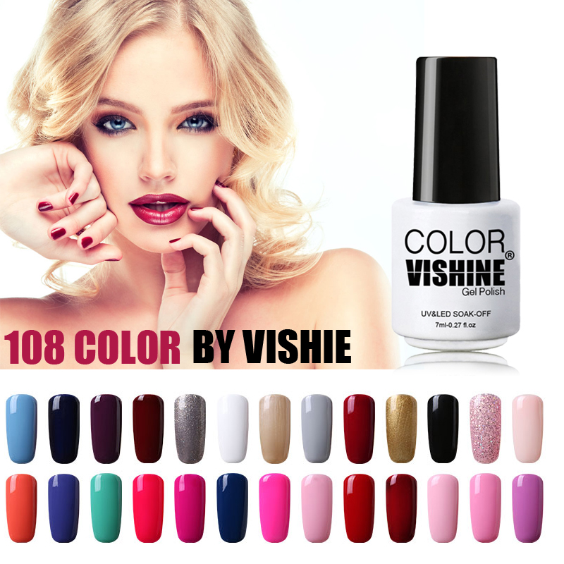 vishine 7ml soak off uv gel nail polish cute color vernis gel semi permanent gel nagellak gel. Black Bedroom Furniture Sets. Home Design Ideas