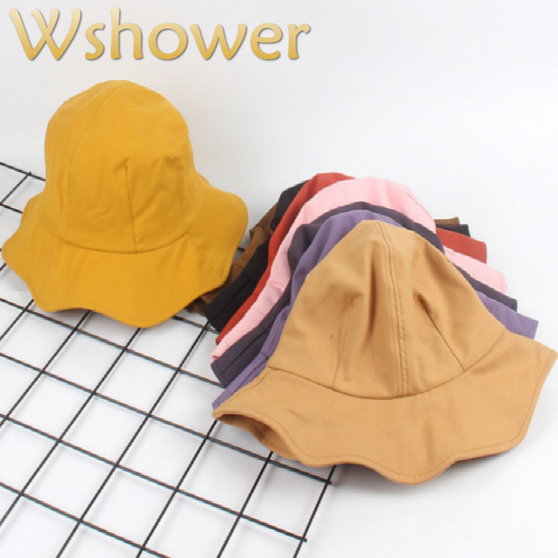 LL Womens Spring Summer Plaid Bucket Hats Yellow