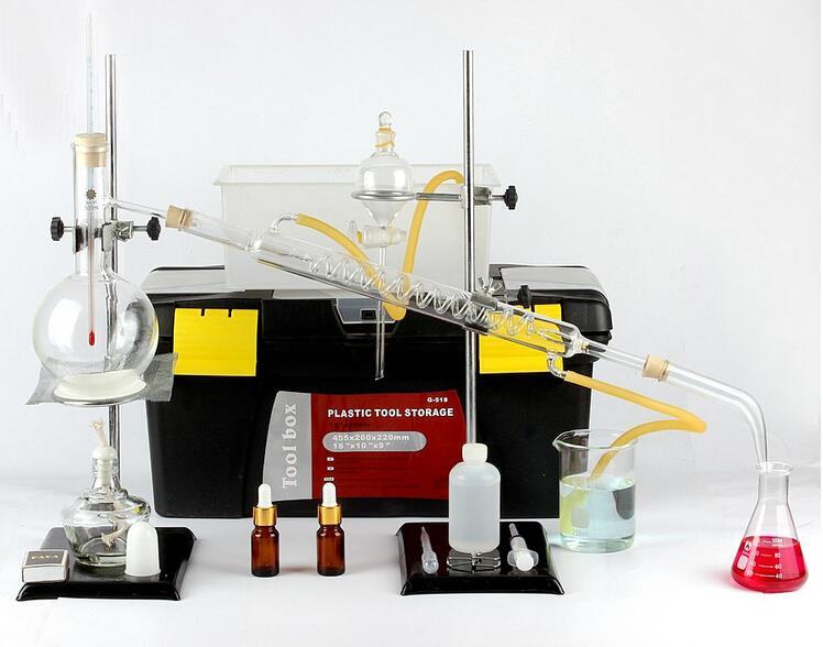 Water Distillation Equipment ~ Ml water distillation kit distilling apparatus refining
