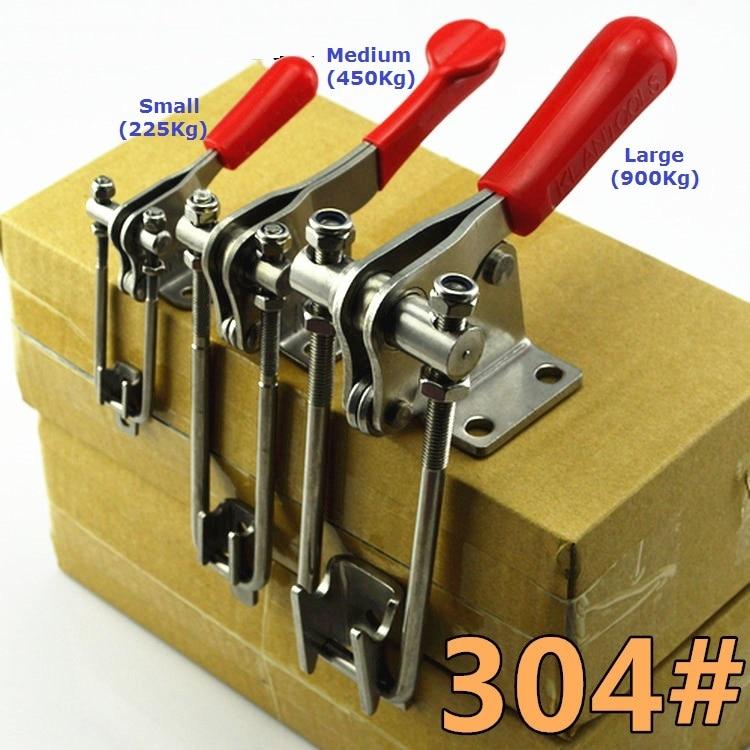 купить Large (900Kg) Adjustable 90 Degree Corner Hasp Fastener, Toggle Latch, Hasp Catch - Trailer Industrial по цене 1257.95 рублей