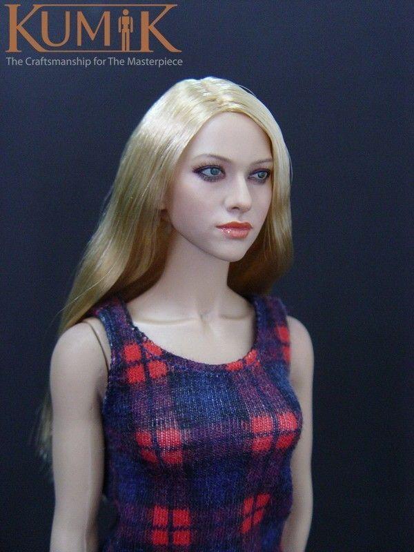 1/6  Headplay Figure Head Model Female KM-048 hair Head Sculpt Amanda Seyfried  12 Action Figure Collection Doll Toys Gift