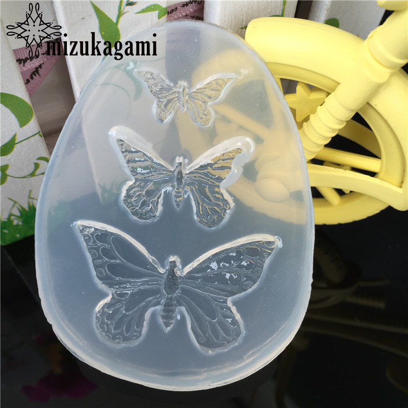 1pcs UV Resin Jewelry Liquid Silicone Mold Animal Butterfly Resin Charms Molds For DIY Intersperse Decorate Making Molds 1pcs uv resin jewelry liquid silicone mold sweet heart resin charms pendant molds for diy intersperse decorate making jewelry