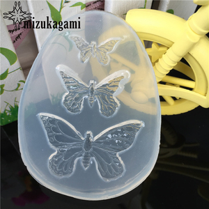 1pcs UV Resin Jewelry Liquid Silicone Mold Animal Butterfly Resin Charms Molds For DIY Intersperse Decorate Making Molds(China)