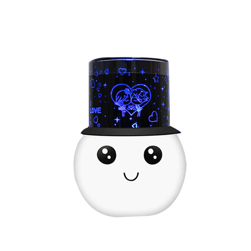Cartoon Snowmen Night Lamps Romantic Star Sky Colorful LED Projection Light Birthday Gifts for kid Lovers Lamp Projector LC