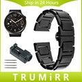 18mm correa de reloj de cerámica para huawei watch/fit honor s1 asus zenwatch 2 mujeres wi502q butterfly hebilla de correa de muñeca pulsera