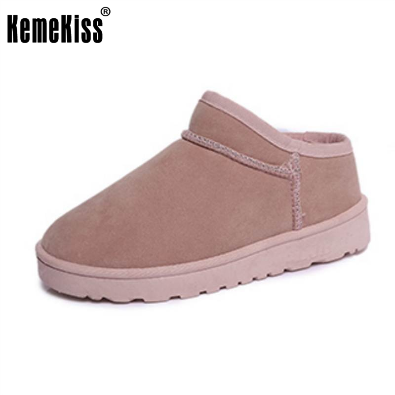 KemeKiss Winter Shoes Women Warm Plush Inside Ankle Snow Boots For Women Slip On Thick Fur Winter Botas Fotwear Size 36-40
