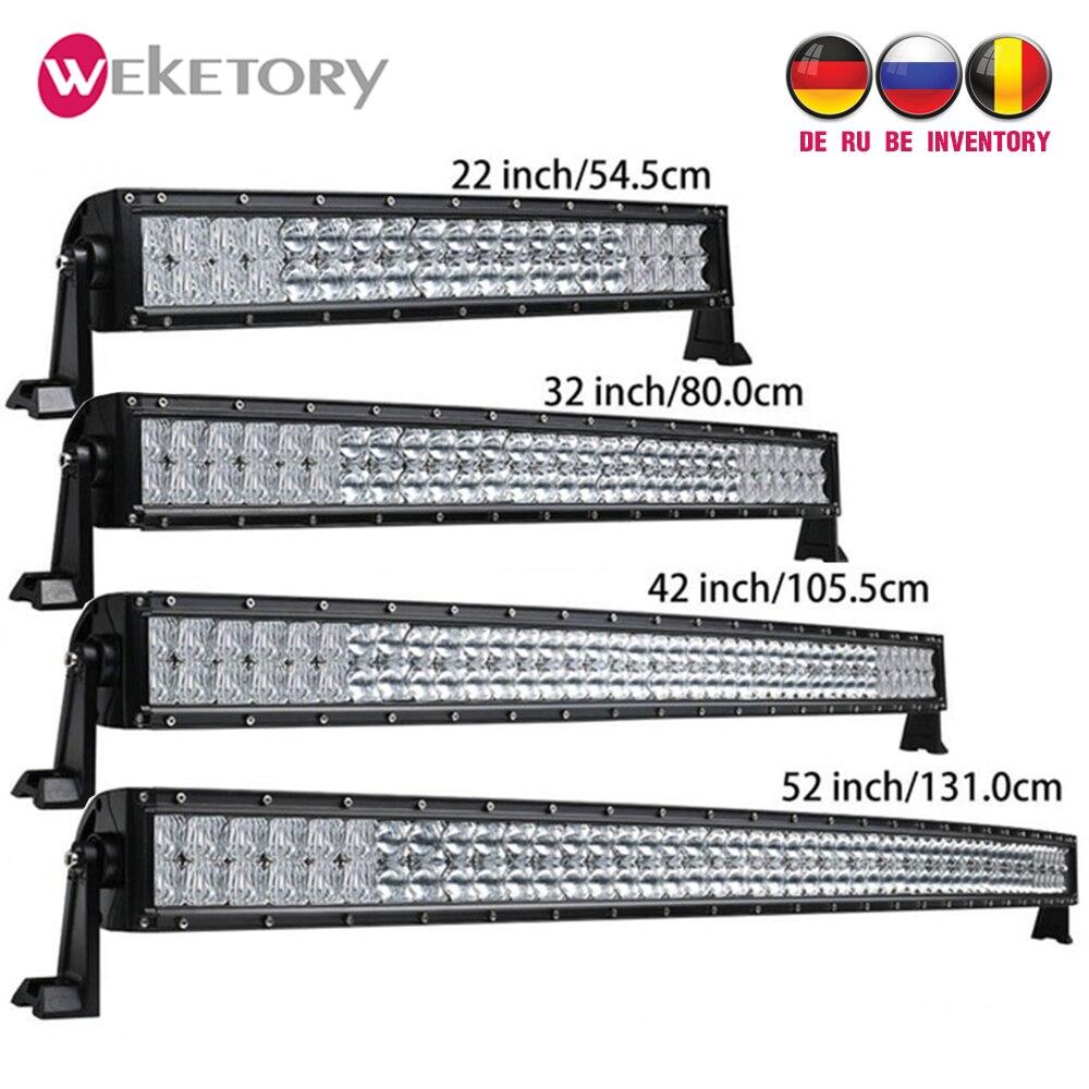 Weketory 5D 22 32 42 52 pouces 200 W 300 W 400 W 500 W Courbe LED Travail Light Bar pour Tracteur Bateau OffRoad 4WD 4x4 Voiture Camion SUV ATV
