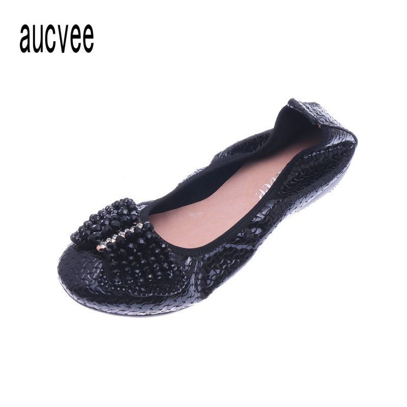 European American Fashion Shallow Mouth Genuine Leather Ballet Flat Shoes Bowtie Decorative Utra soft Ladies Slip