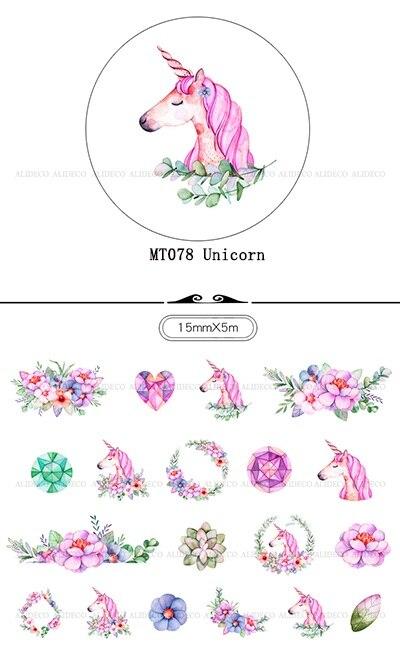 ∞Color unicornio japonés Washi cinta de papel cinta adhesiva DIY ...