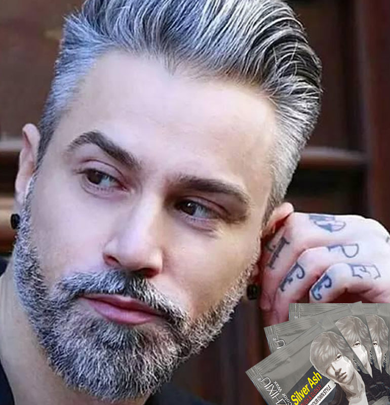 Hair Color Hair Wax Pomade Silver Ash Grandma Grey Hair Wax Men