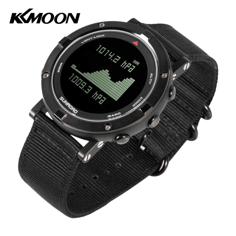 Montre intelligente hommes en plein air numérique sport montre-bracelet moniteur de fréquence cardiaque podomètre montre 5ATM étanche avec Nylon Smartwatch