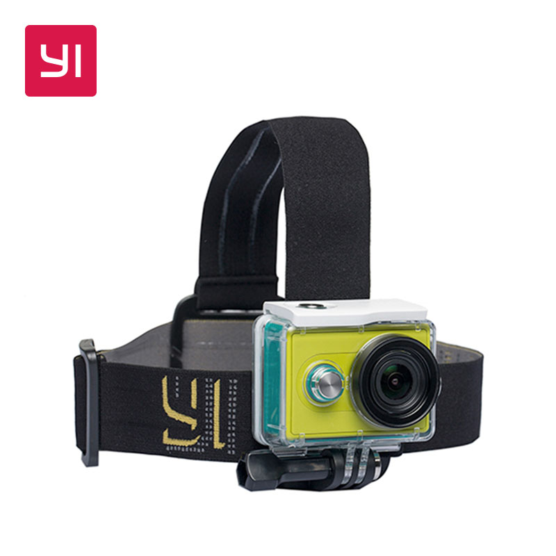 YI Head Mount Black For YI Action Camera 4K and 4K Plus Camera One size Adjust Lightweight & Portable Hand-free Outdoor Sports