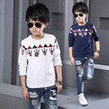 Fashion New Spring Autumn T-shirts Boys Long Sleeve Fashion Handsome Print For Children Kids Baby Boys Clothes Cotton Shirt