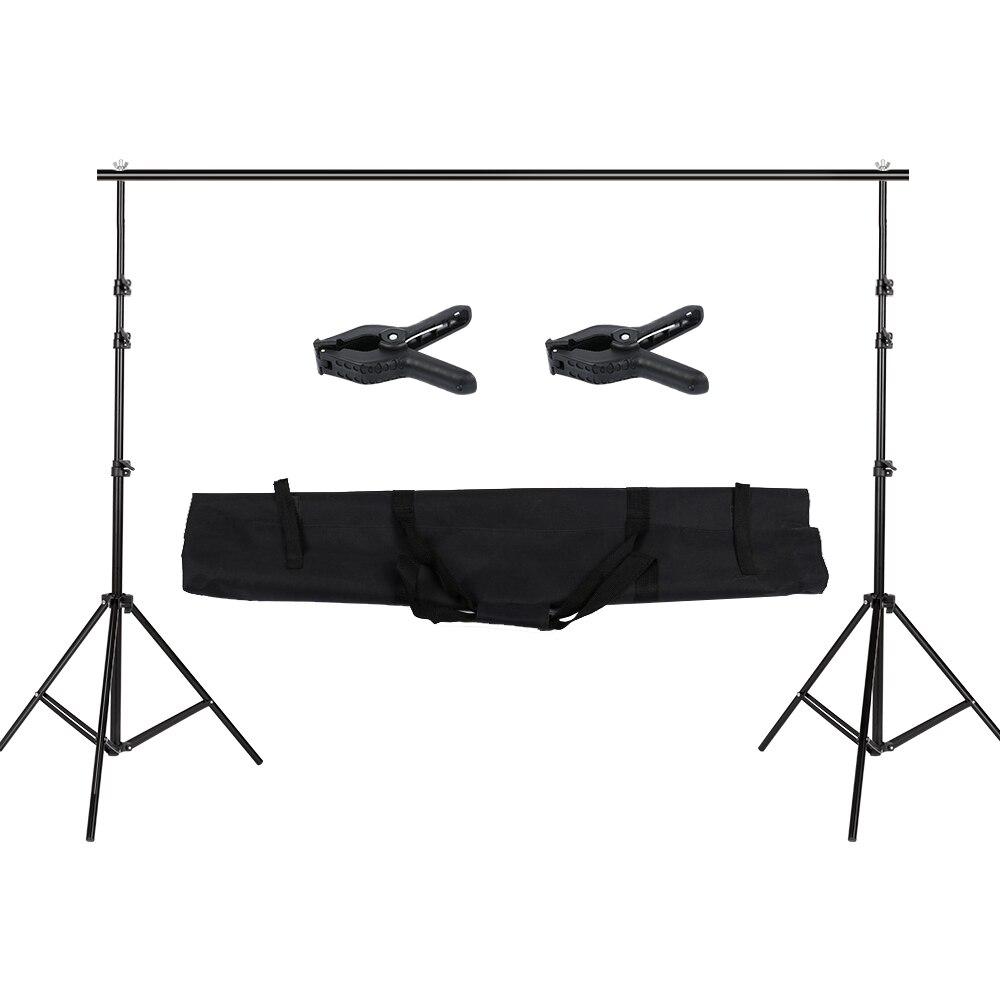2.6 M X 3 M/8.5 * 10ft Pro photographie arrière-plan Photo Support système signifie Studio Photo vidéo + sac de transport