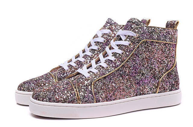 3cb2c75e97ed High Top Quality 2015 New Colorful Glitter Leather Gold Line Men Red Bottom  Shoes For Women Designer Casual Shoes Size Euro36~46