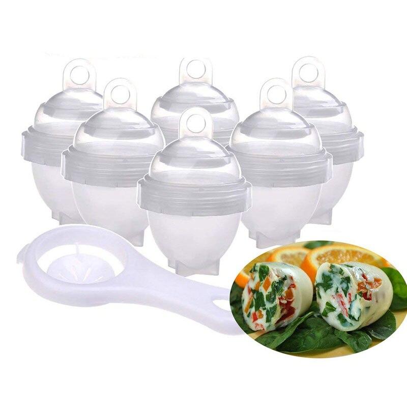 Steamer Egg-Cooker Yolk-Separator Poacher-Cups Kitchen-Gadgets Hard-Boiled Plasti