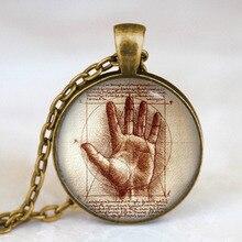 Leonardo Da Vinci Hand Vintage Pendant
