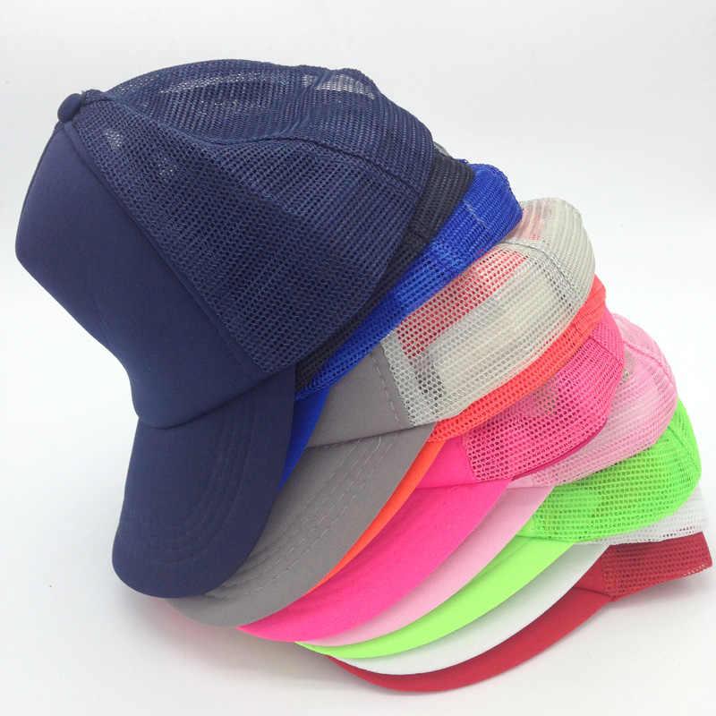 4f4d22145bf New 2016 Classic Fluorescent  Plain   Blank Trucker Baseball Summer Mesh Cap  Hat Snapback For