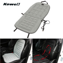 KOWELL Universal 12V Winter Car Seat Heated Cushion Cover Case Degree Temperature Adjustable Heater Auto Driver Warmer Support