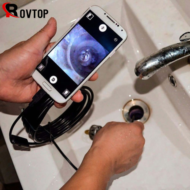 المنظار USB أندرويد المنظار كاميرا مقاوم للماء التفتيش Borescope مرنة كاميرا 5.5 مللي متر 7 مللي متر لأجهزة الكمبيوتر المحمول أندرويد 6LED