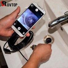 内視鏡 usb アンドロイド内視鏡カメラ防水検査ボアスコープ柔軟なカメラ 5.5 ミリメートル 7 ミリメートル android ノート pc 6LED