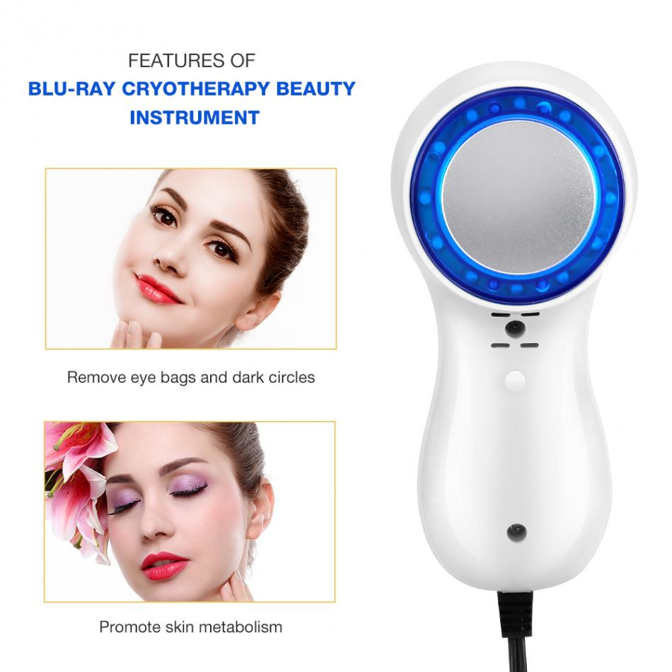 Medical Blue Light Therapy Face Machine for Wrinkles Skin Tightening Shrink Pores Anti Aging Cold Hammer Cryotherapy Ice HealingMedical Blue Light Therapy Face Machine for Wrinkles Skin Tightening Shrink Pores Anti Aging Cold Hammer Cryotherapy Ice Healing