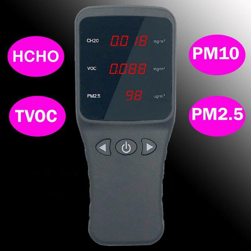 Gas Detector Formaldehyde HCHO PM2.5 Monitor TVOC Digital Gas Analyzer Particle Dust Air Quality Monitor PM10 Tester 2016 private portable formaldehyde air detector tvoc gas analyzer