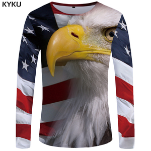 KYKU Brand America Long sleeve T shirt Eagle Clothes Flag Tops Funny T  shirts 3d T shirt Tees Men Hip hop Ftness Male Homme|tees men|men hip  hopshirt 3d - AliExpress