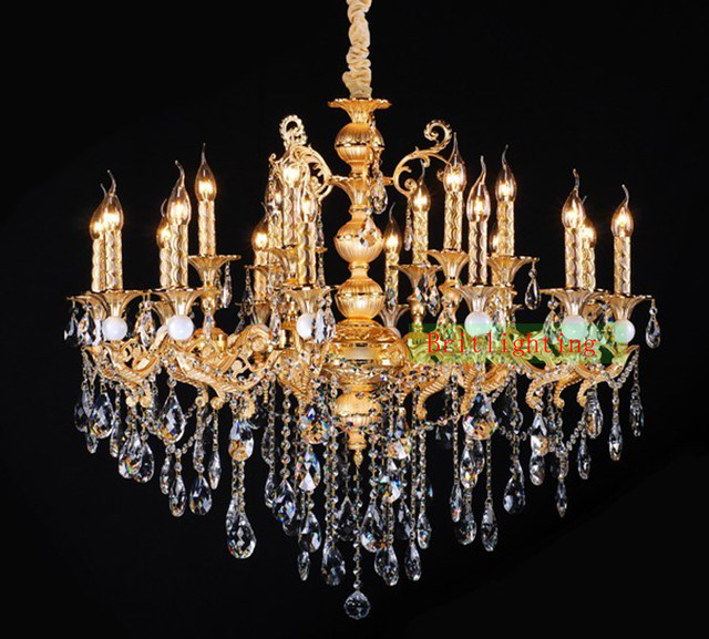 Online-Shop Gold überzogene Zink-legierung kristall-kronleuchter ...