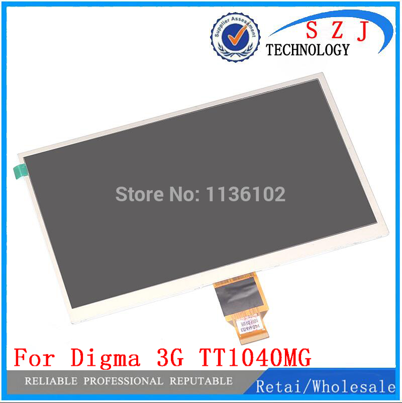 New 10.1'' inch for Oysters T12V 3G/Digma Optima 10.1 3G TT1040MG Tablet 1024*600 TFT LCD display Screen Free Shipping digma optima 7010d 3g