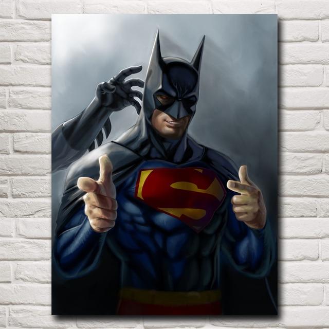 batman vs superman movie art silk fabric poster print 12x16 18x24