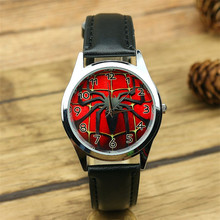 Free Shipping High Quality Cartoon Children Girls Kids Spider Man Quartz Wristwatch Student Watches