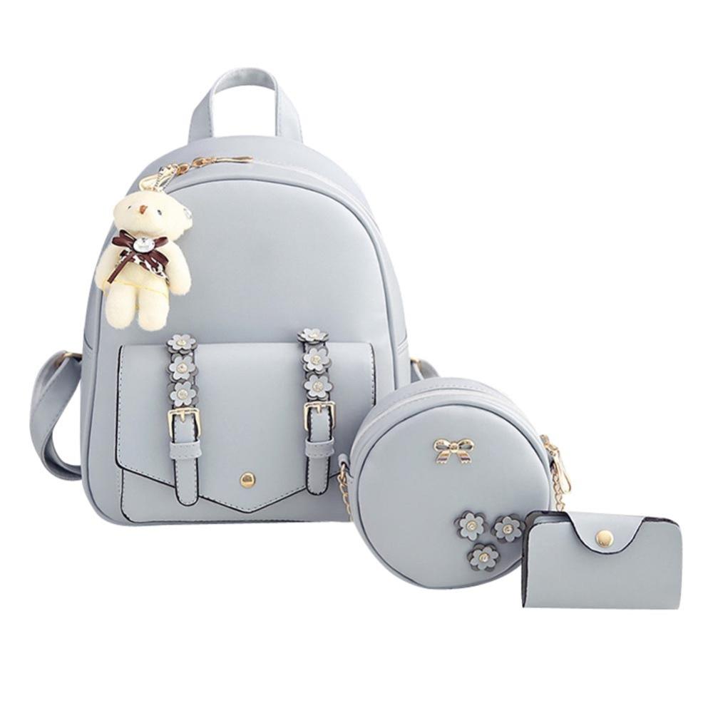 3pcs/set Women Backpack Teenage PU Leather Backpack Mochila Feminina Sac A Dos