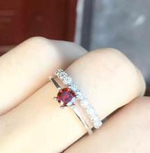 thailand silver the u s marine corps sniper badges ring Thailand and the pure manual S925 pure silver ornaments Thai silver garnet female fashion restoring ancient ways ring