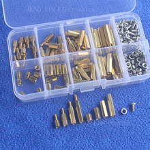 200Pcs/M3 PCB Threaded Female Brass Standoff Spacer Board Hex Screws Nut Assortment Box kit set m2 brass male female standoff pillar mount threaded pcb motherboard pc computer round spacer hollow bolt screw long nut