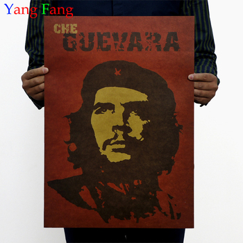 Famous Man Che Guevara Posters Advertising Party Supply Old Bar Complex Decorative World History Painting Vintage 51*35cm image